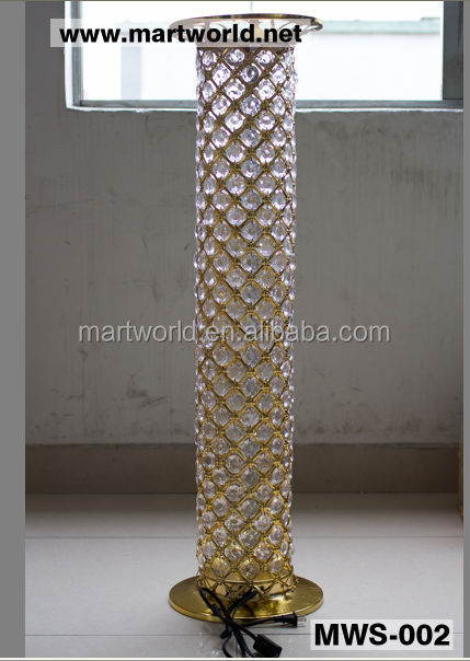 2018 LED RGB Light Crystal Pillars Columns Wedding Stage Decoration Crystal Led Pillar For