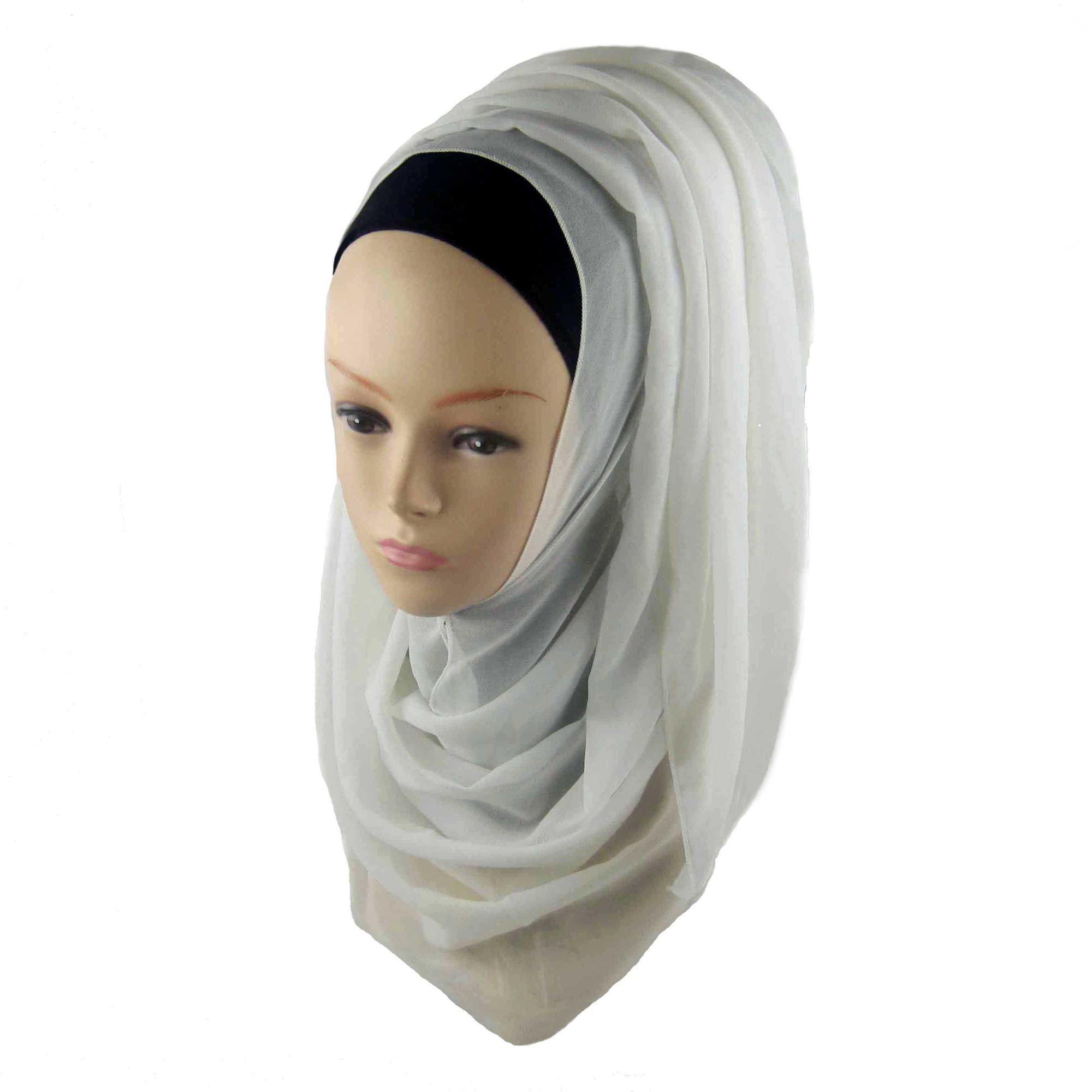 Wholesale fashion muslim women plain chiffon hijab