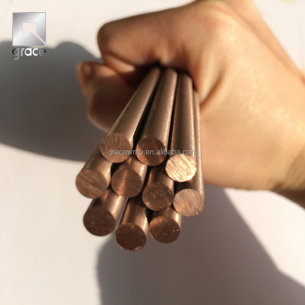 W70 W80 tungsten copper <strong>alloy</strong> bar /electrode rod bar