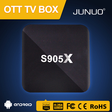 JUNUO wholesale newest s905x 2GB ram h.265 4k ott ir remote control android tv box
