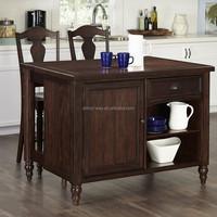 Modern furniture oak kitchen dining top dining table set