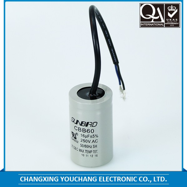 New coming high capacity cbb60 8uf motor run capacitor
