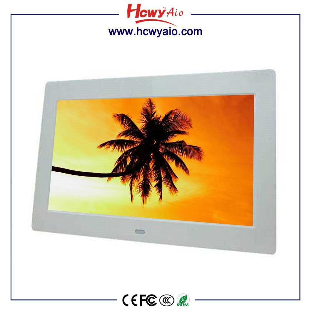 OEM lcd media player 8 inch digital photo frame 1024*768 support video / music / picture / clock /