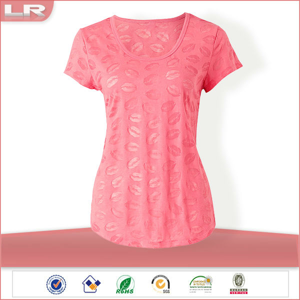 Cotton/Polyester Hot Options Knit Women Sleep Top