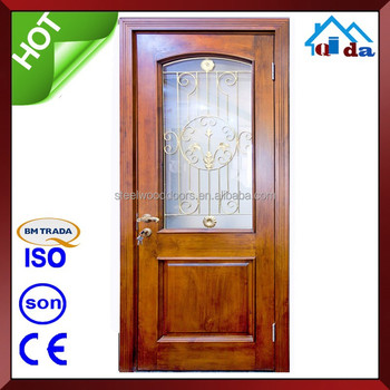 Interior teak wood main door models and solid wood door