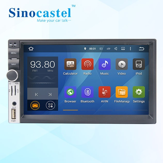 Popular 7 Inch Universal Double Din Remote Car LCD Media Player With Mirror-link and Optional TPMS IPAS DVR DAB+