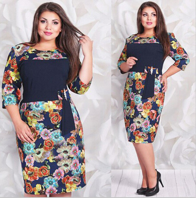 China Online Shopping Latest Fashion Dresses With Plus Size Designs