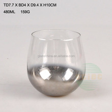 wine glass with silver edge