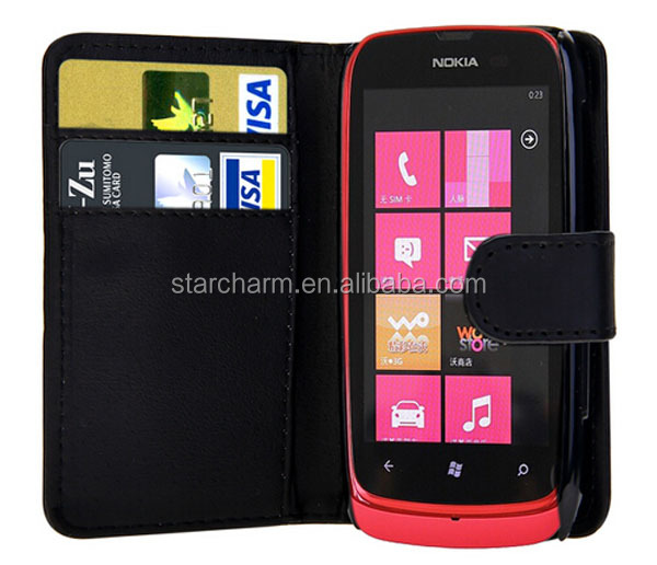 Fancy Pattern Leather Flip Case for Nokia Lumia 610