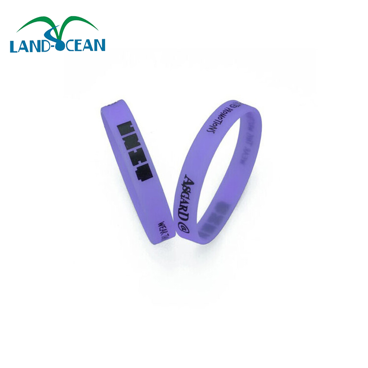 Cheap wholesale custom single thin silicone bracelet from china