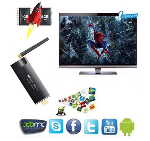 MINI TV MK903V Quad Core Tv Stick Loaded KODI 2GB RAM Android Smart Tv Dongle Free Sexy Movie for Download