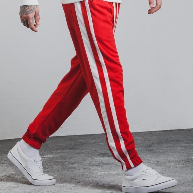 ZH303B 2017 New fashion Wholesale two Stripes Vintage Men Track Pants