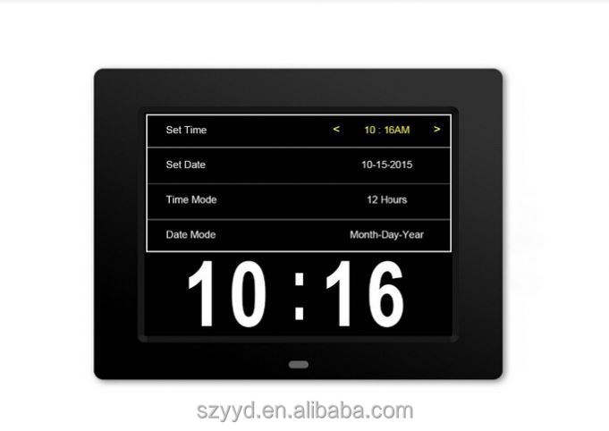 2016 directly supply clocks white and black with Non-Abbreviated Day & Month