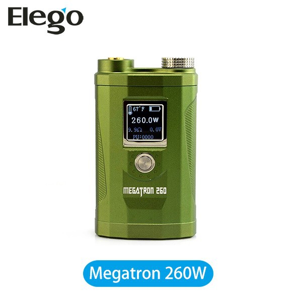 2015 New coming !!!VV VW mechanical mod 260W MegaTron vapor mod 3 pcs battery suit 18650 Battery 260 Box Mod Megatron