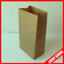 2014 fashionable kraft custom made paper bags wholesale
