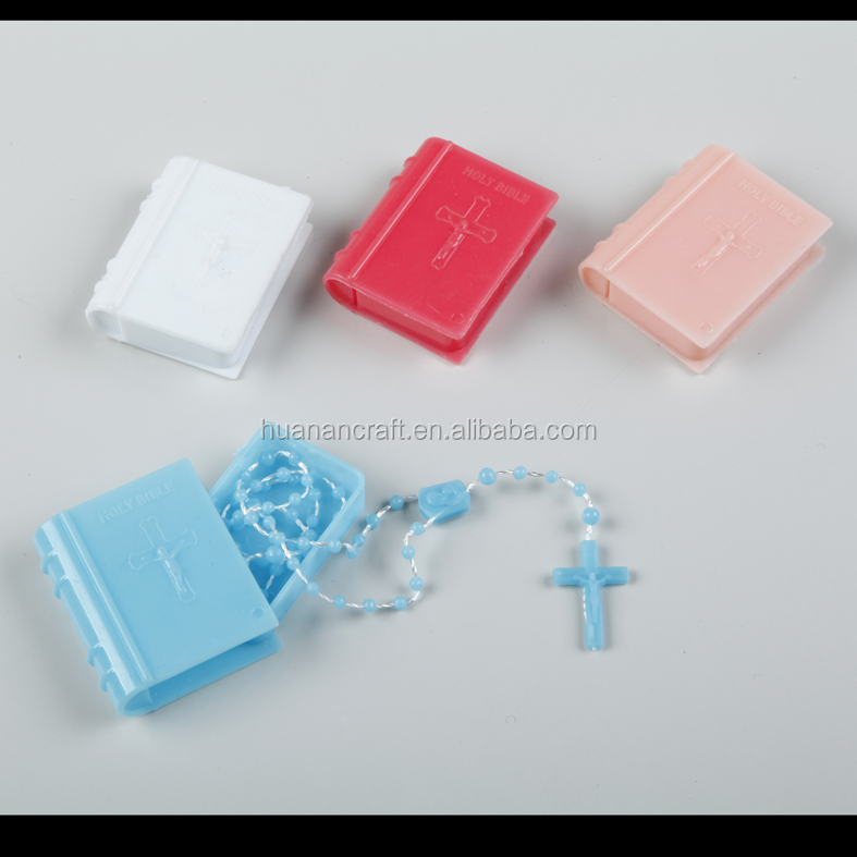 Zhejiang factory produce religious catholic rosary box plastic beads rosaries for sale