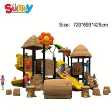 Plastic toy backyard play structures Manufacture preschool playground