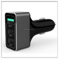 2015 fashion high speedy 3 USB 2 port with 2.4 A aluminum housing QC 2.0 car charger