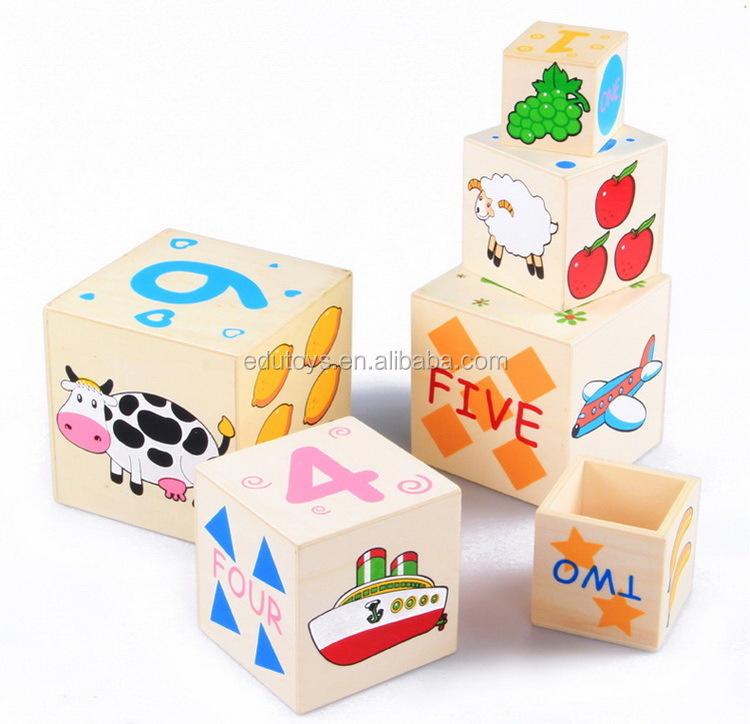 Baby Educational Wooden Toys Nest Blocks