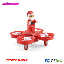 H67 2.4GHz Headless Mode Remote RC Control aircraft Santa Claus Quadcopter With LED Music Helicopter Christmas Toy for kids