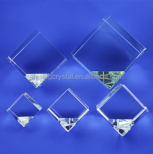 3d laser engrave crystal glass block crystal blank cube
