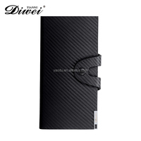 2016 Top quality black Durable man tough leather wallet