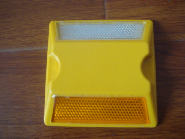 Hot Selling Yellow ABS Plastic Reflective Reflector Road Stud