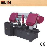 400mm round cutting Horizontal Double Column Metal Band Saw with CE certificated