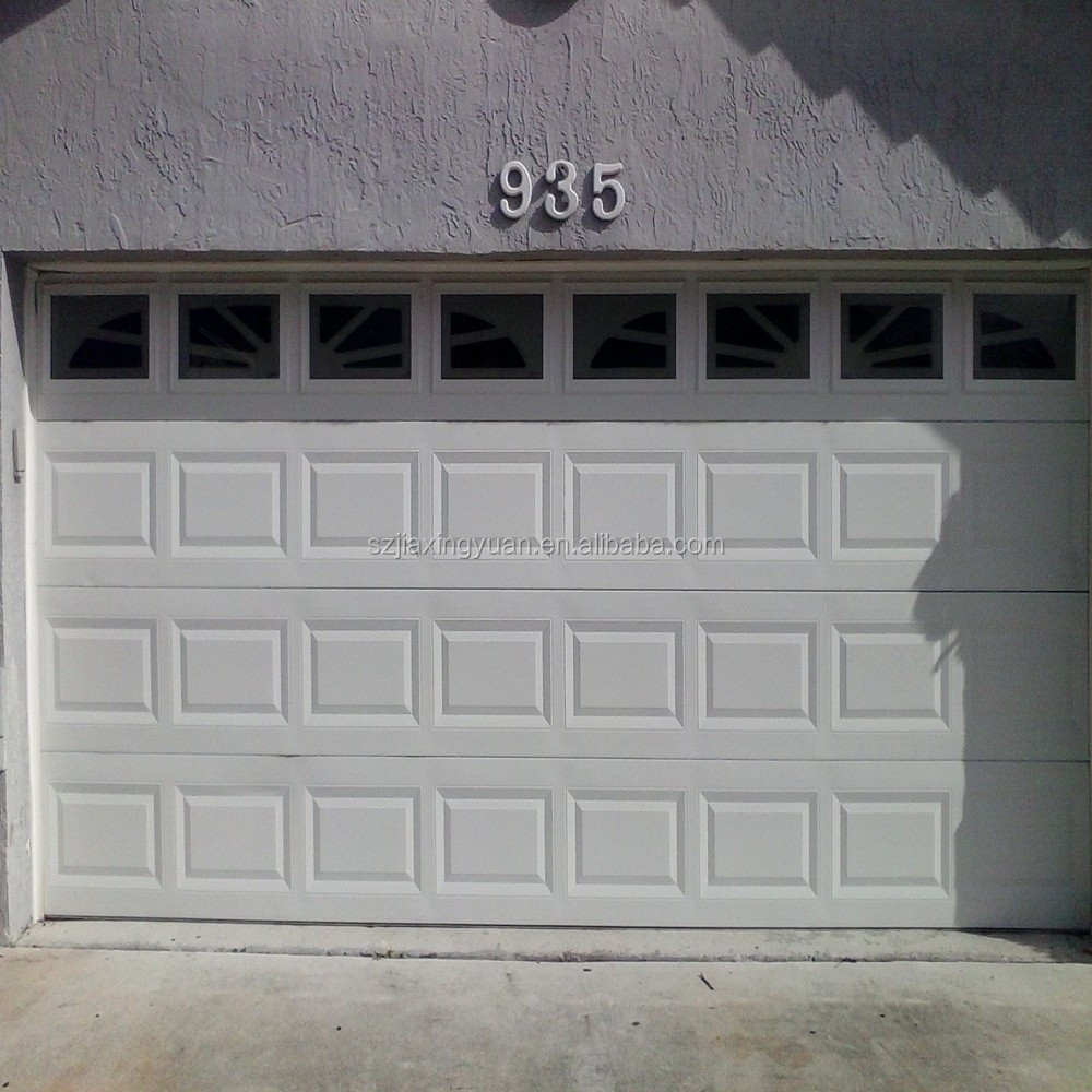 Residential steel sectional automatic garage door window panels
