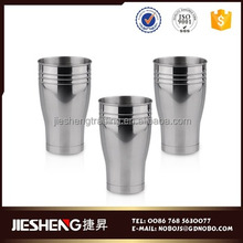 Environmental Friendly smooth surface metal coffee cup wall art for fruit juice