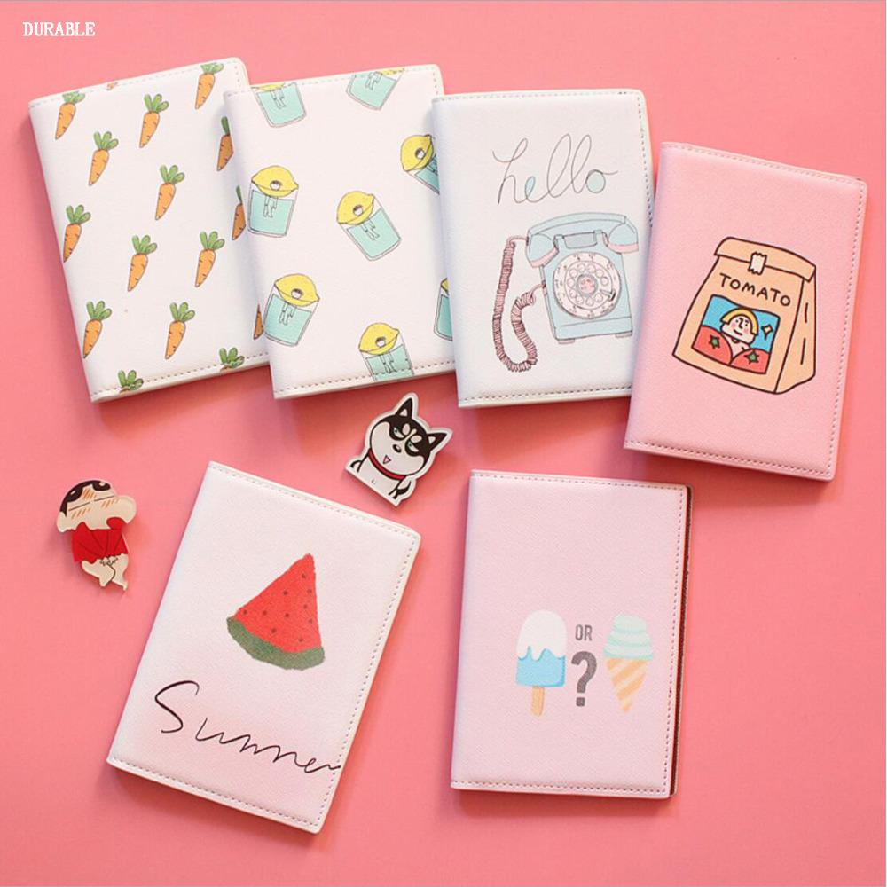 Bear Animal Cartoon Print Passport Bag Cover Girls Card Holder Women ...