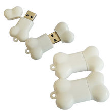 Cute White Silicone Dog Bone Real Capacity 1Gb Usb Flash Drive 4Gb 8Gb 16Gb 32Gb External Memory Storage Cartoon Pendrive Stick