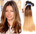 Factory Direct Peruvian Virgin Silky Straight 1B/4/27 Human Hair Weave, Ombre Hair