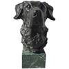 indoor home decoration brass life size labrador dog head statues