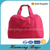 Simple design easy carry girls pink plain travel bag