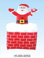 Inflatable Santa Claus/outdoor inflatable christmas grinch for sale