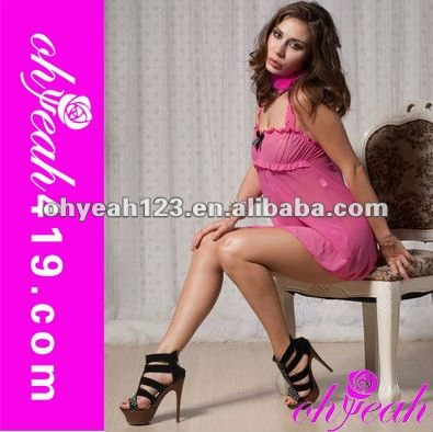Wholesale new arrival sexy pink asian babydoll lingerie,nude babydoll lingerie,sexy negligee