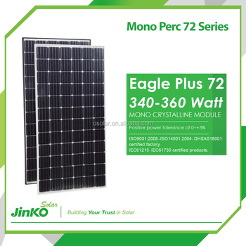 Jinko 72 cells perc monocrystalline solar panel from 340W to 360W