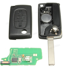 Topbest complete key for Peugeot 3 buttons trunk car remote key 433mhz 7941 chip ASK