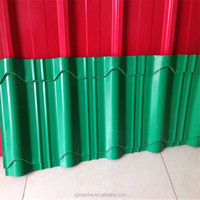 Wall,Roofing sheet Application and Dupon301 uv resistance film Surface Treatment FRP pultrusion color steel sheet roof tile