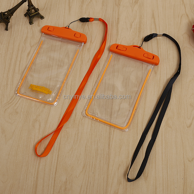 Noctilucence pvc mobile case cover pouch dry underwater phone waterproof bag, waterproof plastic bag