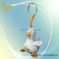 Fashional style mini and cute chicken keychain stuffed plush toy chicken keychain
