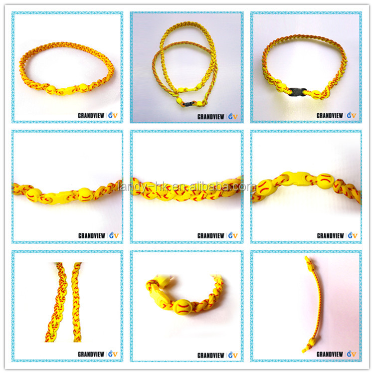 Fashion design stock lot healthy softball useful twisted rope chain necklace