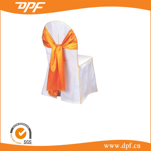 hotel hot sale 100% polyester wedding ruffle chair covers and sashes