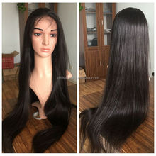 qingdao hair factory 8a grade great quality virgin brazilian human hair natural hair line full lace wig