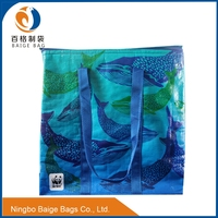 insulated eco-friednly laminated pp woven cooler bag