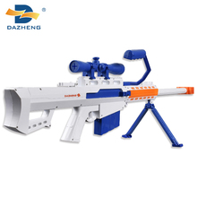 Modern Design electric plastic sniping rifle bullet toys gun with light
