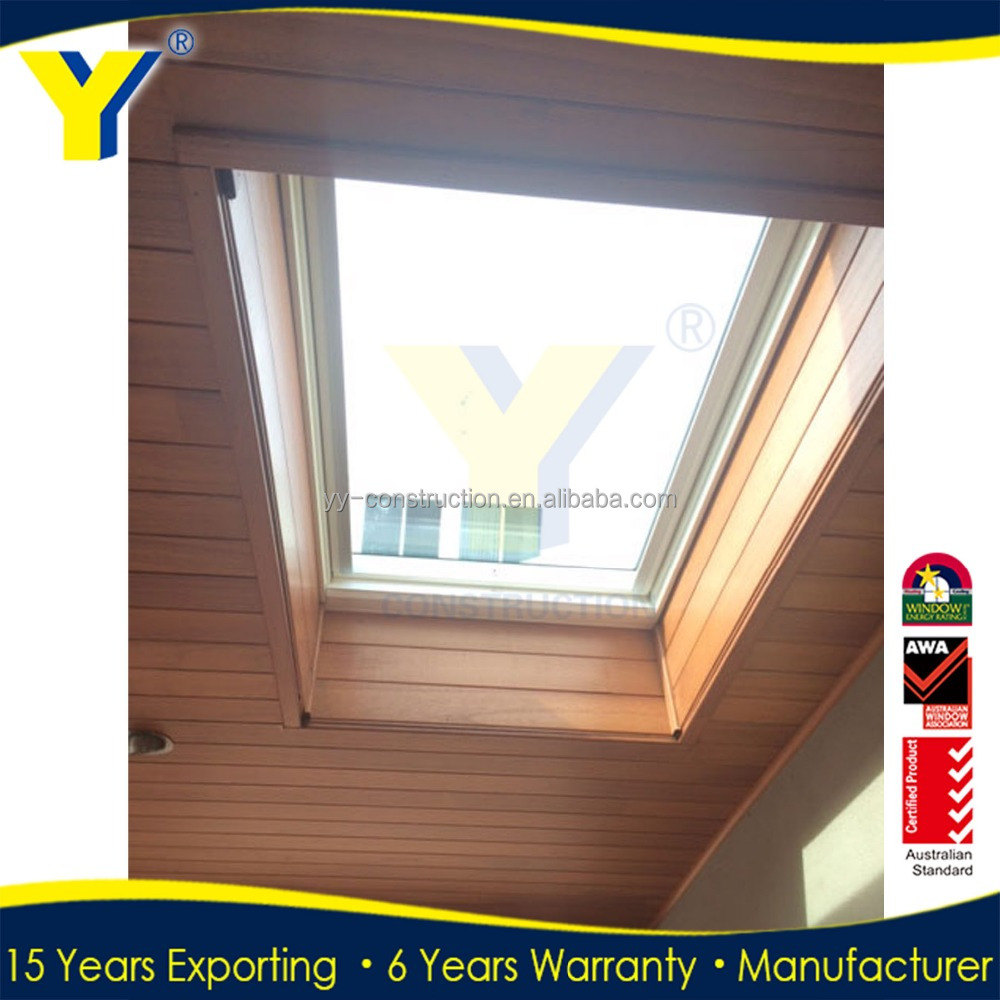 YY factory supplied double glazed thermally broken frames of skylight window/roof window/remote control skylight
