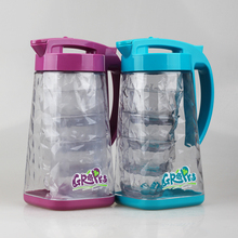 2016 New Design High Quality Plastic Water Pitcher Jug with Cups Set