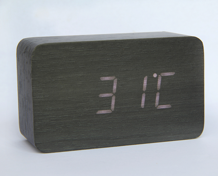 Hot selling digital wooden LED clock with alarm